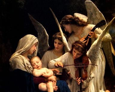 Blessed Virgin Mary with angels