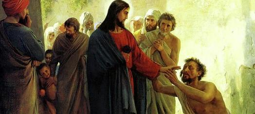 Sacrament of Healing - Christ healing the blind man, Carl Heinrich Bloch